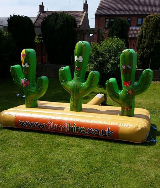 Cactus Toss inflatable game for hire